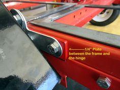 Harbor Freight 4' x 8', Folding Trailer Mods...Finally Done.. - The Garage Journal Board