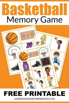 Help your child better understand basketball with this easy memory game. It includes 12 pictures all related to the sport. Different Sports, Different Games, Sorting Games, Memory Games For Kids, Basketball Season, T Play, Game Pieces, Matching Games, Child Love