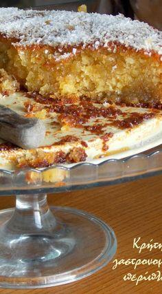 Greek Sweets, Greek Desserts, Greek Recipes, Desert Recipes, Just Desserts, Eggless Desserts, Vegan Desserts, Delicious Desserts, Sweets Recipes