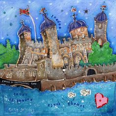 Tower of London Framed at Whistlefish - handpicked contemporary & traditional art that is high quality & affordable. Tower Of London, London Art, Building Art, Illustration Art, Illustrations, Traditional Art, Painting & Drawing, Whimsical, Art Prints