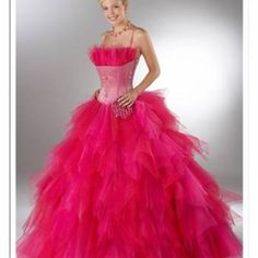No...just...NO! If we can see your belly button through your bodice and you might scratch your face on that tulle crumb catcher, you might regret it!