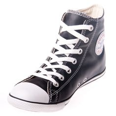 Converse Chuck Taylor 113936 Slim Leather Black Hi Top Shoe @$99.99 ! Buy now at GetShoes.ca