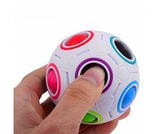 40f28287d5b8 Mágikus gömb logikai játék - színes golyókkal Cubes, Rainbow Magic,  Football, Cube Toy