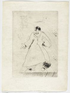 Marc Chagall. The Superintendant (L'Intendant), plate XI (supplementary suite) from Les Âmes mortes. 1923-48