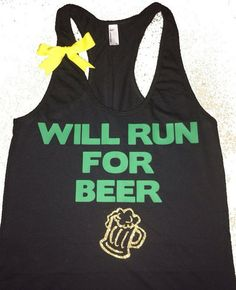 Will Run For Beer - Ruffles with Love - Fitness Tank - Womens Workout | Ruffles with Love