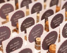 You won't believe how easy it is to DIY these escort cards.
