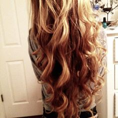 long blonde curls
