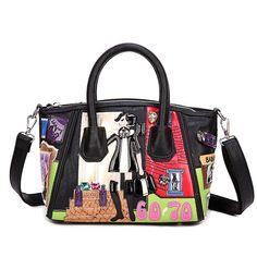 Trendy Graphic Design Tote Bag #graphic-desigh-tote-bag #Juniors-Handbags #shoulder-bag