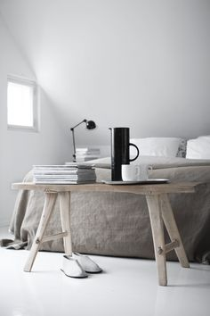 nordic inspired, natural textures, table | minimal yogic design