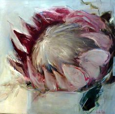 Protea painting by Nicole Pletts Art Oil, Art Works, Contemporary Abstract Art, Art Painting, Flower Art, Floral Art, Protea Art, South African Art, South African Artists