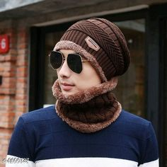 Caps & Hats PinKit Ultra Soft Unisex Woolen Beanie Cap + Neck Scarf Set for Men and Women - Warm, Snow Proof - (Brown) Material: Acrylic Pattern: Textured Multipack: 2 Sizes: Free Size Country of Origin: India Sizes Available: Free Size *Proof of Safe Delivery! Click to know on Safety Standards of Delivery Partners- https://ltl.sh/y_nZrAV3  Catalog Rating: ★4.2 (1545)  Catalog Name: Fancy Trendy Men Caps & Hats CatalogID_1698093 C65-SC1229 Code: 303-9606737-