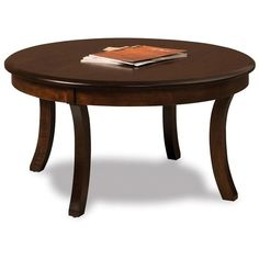 """Amish Old Classic Sleigh 38"""" Round Solid Top Coffee Table ($578) ❤ liked on Polyvore featuring home, furniture, tables, accent tables, knot table, hand made furniture, handmade coffee table, game furniture and handmade tables"""
