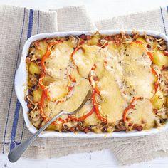 Recept - Aardappelchampignonschotel met kaas - Allerhande
