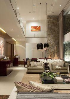 Receber amigos e os amigos deles - Casa Vogue | Interiores...  Consider Hanging Pendants...