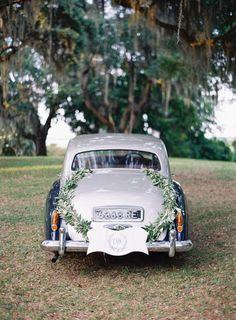 Vintage car: http://www.stylemepretty.com/2015/04/09/coastal-south-carolina-private-plantation-wedding/ | Photography: Tec Petaja - http://tecpetajaphoto.com/