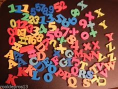 Magnetic Numbers Letters Huge LOT | eBay