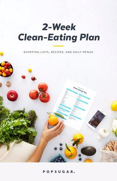 Eating clean is easy with these tasty recipes. This two-week plan will teach you how to shop for, prep, and cook clean meals. You will be amazed how great you feel in 14 days.