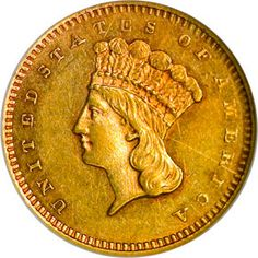 Gold Dollars - 1870 S G One Dollar MS