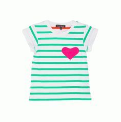 Girls' Green Candy Tee With Heart Appliqué | Le Petit Society