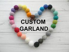 Felt Ball Garland Custom Nursery Decor Garland 2.5cm balls