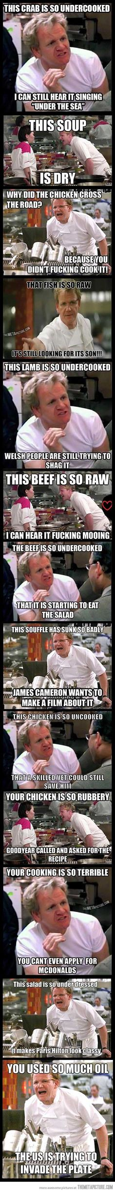 Angry Gordon Ramsay compilation…