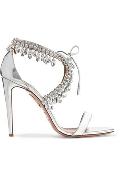 e521d803fe8d Shop for Milla Crystal-embellished Metallic Leather Sandals by Aquazzura at  ShopStyle. The Plumed Serpent Bridal · Tuesday Shoesday