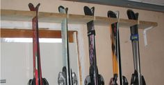 Ski rack ideas. Boots on top. Add hooks for poles/helmets/goggles.