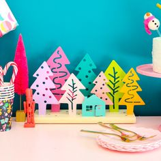 It's time for some Fresh and Fabulous DIY Holiday Crafts To Make Now. Come and check out some brand new Holiday and Christmas crafts! Christmas Tree Forest, Colorful Christmas Tree, Colorful Trees, Noel Christmas, Christmas Ornaments, Christmas Goodies, Christmas Arrangements, Christmas Decorations, Crafts To Make