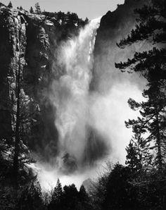 Bridalveil Fall by Ansel Adams