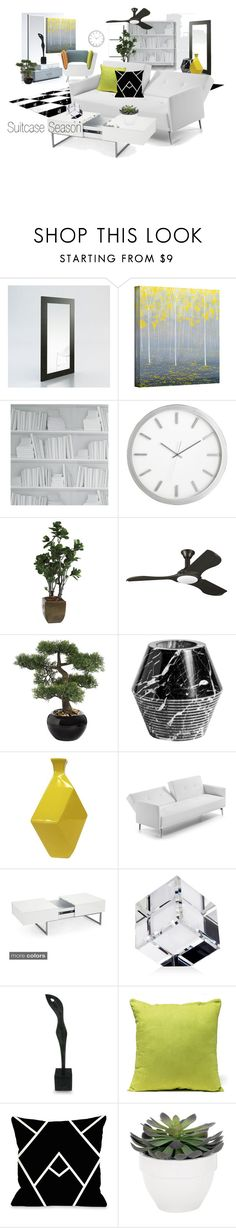 """""""Suitcase Season"""" by neicy-i ❤ liked on Polyvore featuring interior, interiors, interior design, home, home decor, interior decorating, Modloft, ArtWall, Nook and Crate and Barrel"""