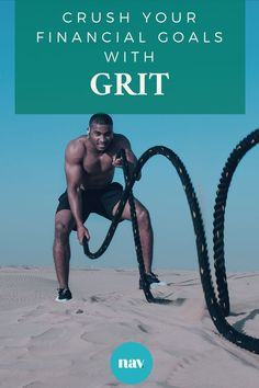 Grit is more than just the dirt under your nails. It's what empowers you to go after your goals, even if they scare the sh*t out of you.   And when it comes to money, grit is what helps you acknowledge that those elusive dollars are nothing more than a tool to support your desired lifestyle.   Here's what you need to #getgritty: Citation Encouragement, Hiit Workouts For Men, Workout Routines, Plyo Workouts, Sprint Workout, Workout Men, Fitness Workouts, Bodybuilding Routines, Female Bodybuilding