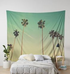 Tapestry Nature, Wall Tapestry, Girls Bedroom, Bedroom Decor, Wall Decor, Blanket On Wall, Retro Bedrooms, Tree Wall, Wall Design