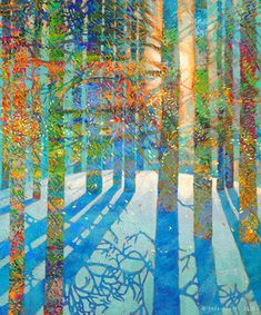 After the Snow Fell | 72x60in Original SOLD | Buy Prints by Iris Scott. She paints with her hands