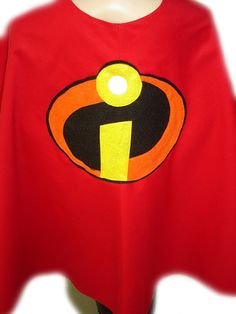 Children Custom Made Handmade Superhero THE INCREDIBLES Inspired Kid Cape