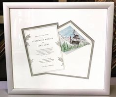 👰🏻Custom framed wedd