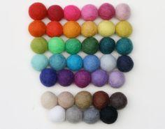 Custom Felt Ball Garland- Garland- 38 Colors- 2.5 cm balls- Personalized Pom Pom Garland Decoration- Colorful party garland- w/ Free Gift