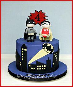 Batman and Robin Birthday Cake | by www.jellycake.co.uk
