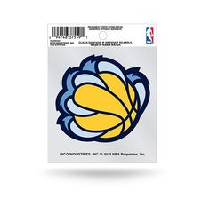 Memphis Grizzlies Claw Logo Static Cling Sticker NEW!! Car Window!