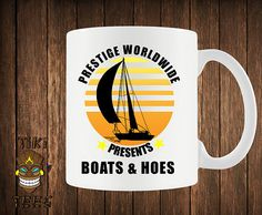 Funny Boats And Hoes Coffee Mug Step Brothers Mugs Gift by TikiTee, $12.00