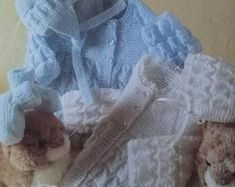 Instant download for two lovely baby cardigans knitting