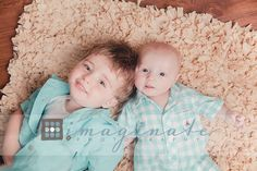 siblings, 3 month old baby & big brother  ©Imaginate Photography