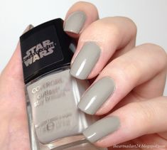 """""""Speed of Light"""" by CoverGirl, described as a taupe/gray creme. Very close to shades on the first strip of the LSu Classic fan"""