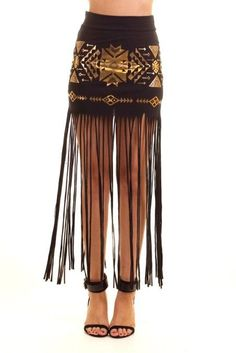 long fringe skirt - Google Search