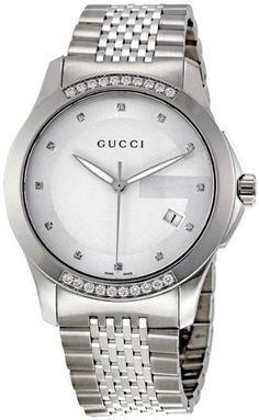 Best Sale Gucci G Timeless Silver Dial Diamond Mens Watch YA126407 Diamond  Watches For Men 7367a2e002