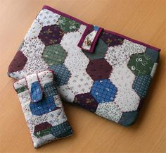 Seda y Esparto: Funda patchwork para la tablet y el movil