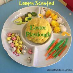 Lemon scented easter playdough.