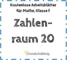 Kostenlose Arbeitsblätter mit Übungen und Aufgaben im Zahlenraum 20 für Mathe in…