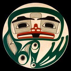 This Frog Drum is the first of a series of thirteen drum designs that are also the names of the moons from different Coastal Nations. Native Art, Native American Art, Haida Art, Aboriginal Artists, Wildlife Paintings, Canadian Art, Indigenous Art, Art Themes, Cool Art