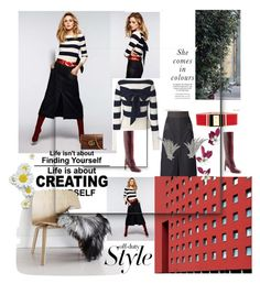 """""""Striped Sweater"""" by sherryphoenix ❤ liked on Polyvore featuring Balmain, Gucci, 10 Crosby Derek Lam and Ana Khouri"""