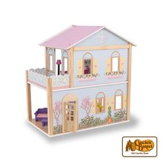 Give your child years of fun and special memories with our wooden dollhouse, just the right size for little hands!     Answer fun questions and you could win in the Cracker Barrel Old Country Store Pick it to Win it Sweepstakes. Start 'picking' your answers at crackerbarrel.com/win (ends Jan 2, 2013).